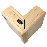 Wandaufbau für Architektenhaus aus Holz