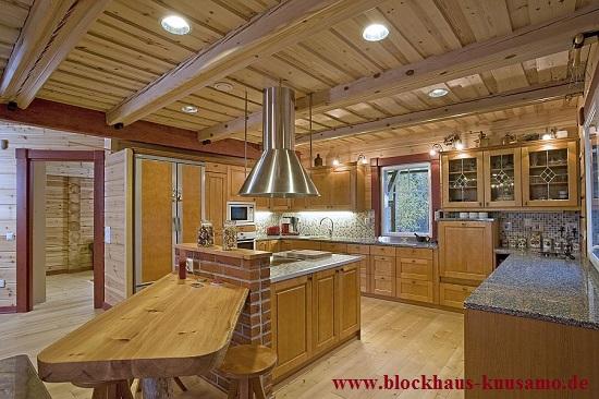 Rustikale Küche im Holzhaus - Wohnblockhaus