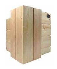Blockhausbau - Blockbalkenwand mit Kurzecke  - Holz - Holzbauteile - Blockbohle - © Blockhaus Kuusamo