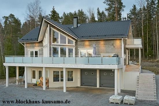 Blockhaus als Hanghaus - Holzhaus, Bauen, Ökologische Holzhäuser, Blockhäuser auch in Deutschland, Hausbau, Wohnhäuser, Erfahrungen