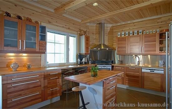 Landhaus - Wohnküche im Blockhaus