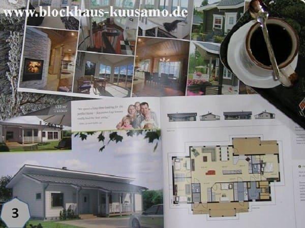 Wohnblockhaus mit Pultdach - Holzhaus in Blockbauweise -