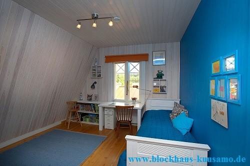 Holzhaus Marburg - Jugendzimmer im Einfamilienhaus - Blockhausbau - Taunusstein - Hühnfeld  - Wohnblockhäuser