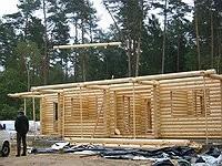 Rundholzhaus - Blockhausbau - Blockhaus Bausatz -  Blockhaus Montage  - Holzhaus in Blockbauweise