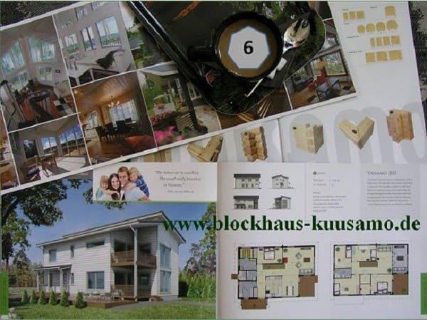 Großzügiges Einfamilienhaus in Blockbauweise auf zwei Ebenen - www.blockhaus-kuusamo.de