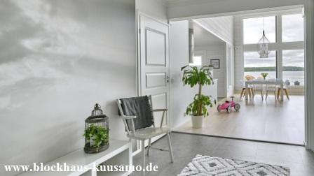 Arhitektenhaus - Designhaus - Blockhaus in massiver Bauweise - Ökohaus - Biohaus - Einfamilienhaus - Holzhaus - Wohnblockhaus - Erfurt -  © Blockhaus Kuusamo