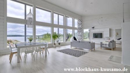 Blockhaus, Wohnblockhaus, Holzhaus, Wohnhaus,  Niedersachsen - Münster - Göttingen - Köln - Düsseldorf - Essen - Einfamilienhaus, Eigenheim, Einrichtung, Umwelt -  © Blockhaus Kuusamo