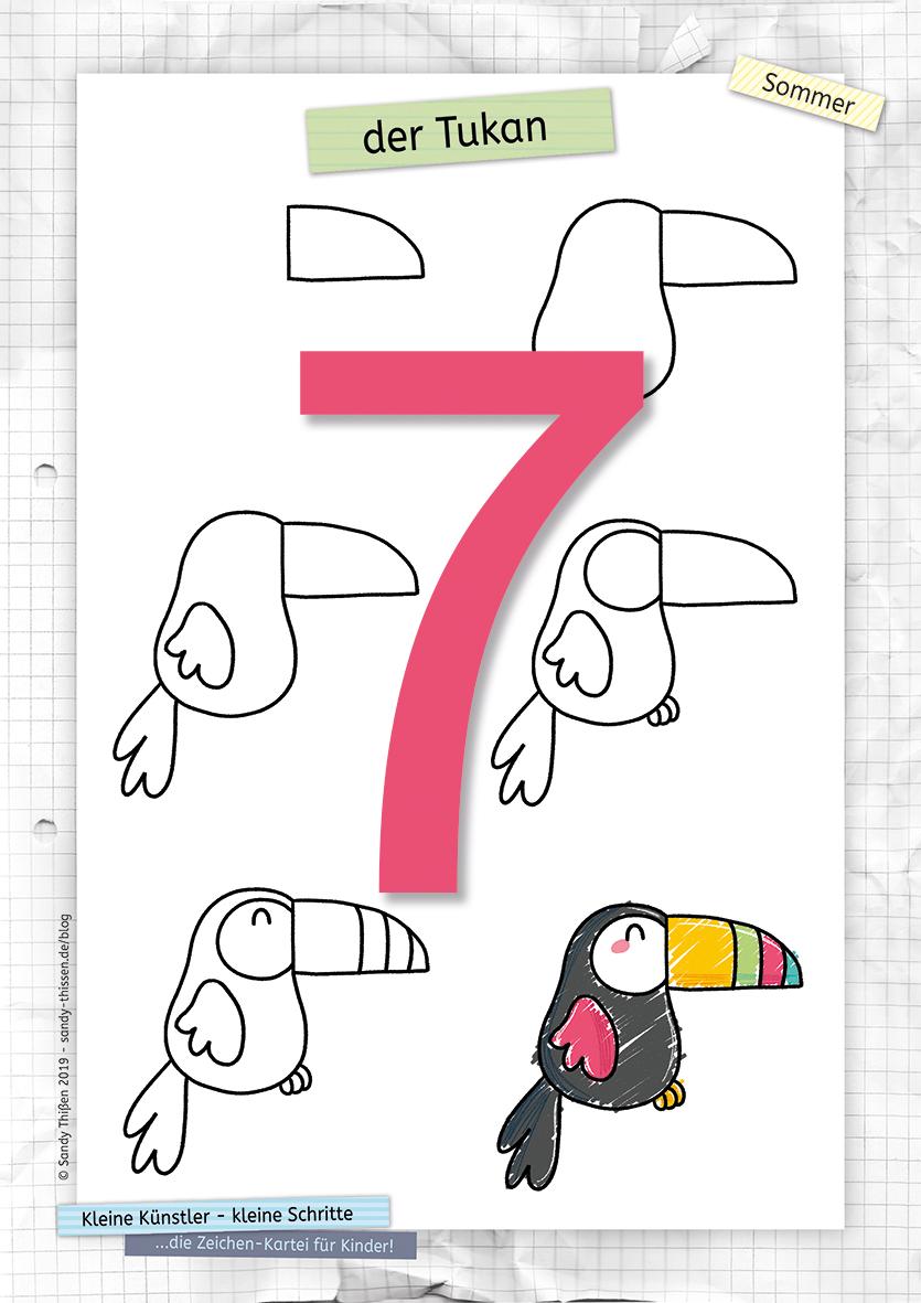 Einen Tukan zeichnen lernen in 6 kleinen Schritten Stiftekästchen Blog Sandy Thissen