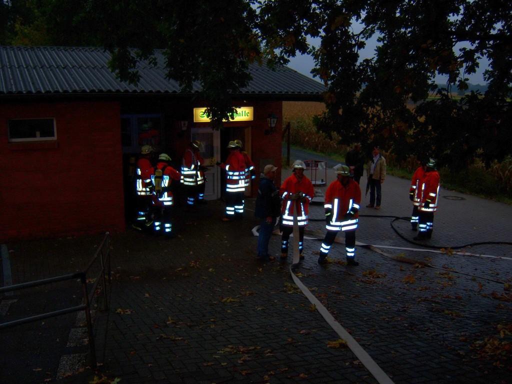 Übung mit FF Fürsteanu 2008 - Schützenhalle Schwagstorf