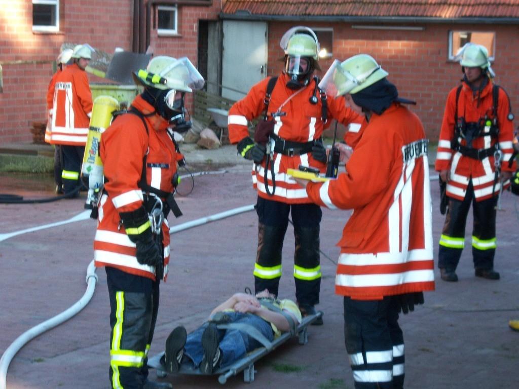 Übung mit FF Fürsteanu 2006 - Hof Barkmann