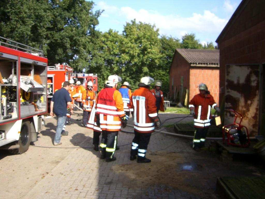 Schweinestallbrand Merzen, Plaggeschale 11.08.2009