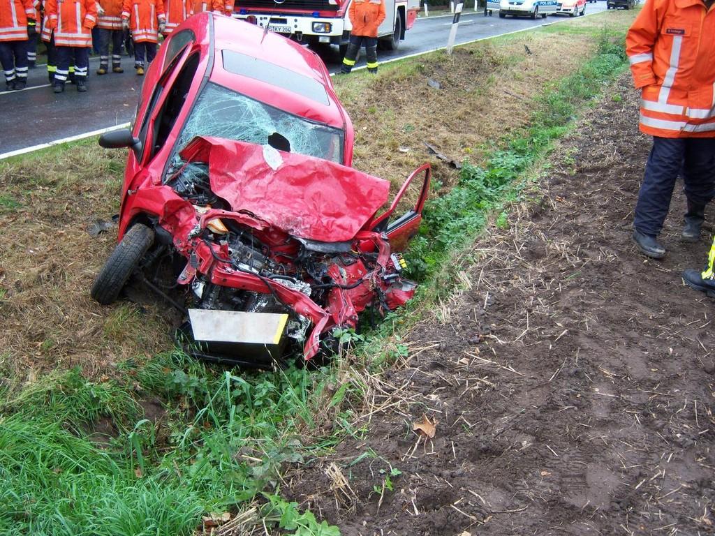 Vehrkehrsunfall B218 29.09.2009
