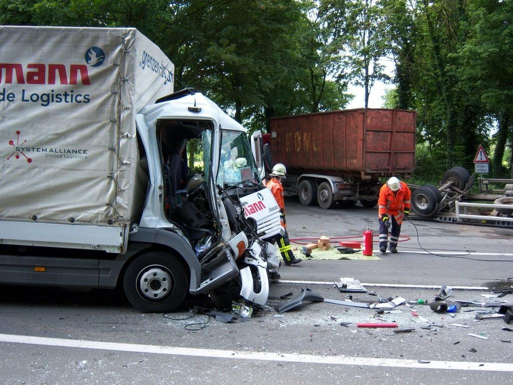 Verkehrsunfall B 214 28.05.2009