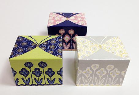 ミニ木箱。蝶ちょうシリーズです。