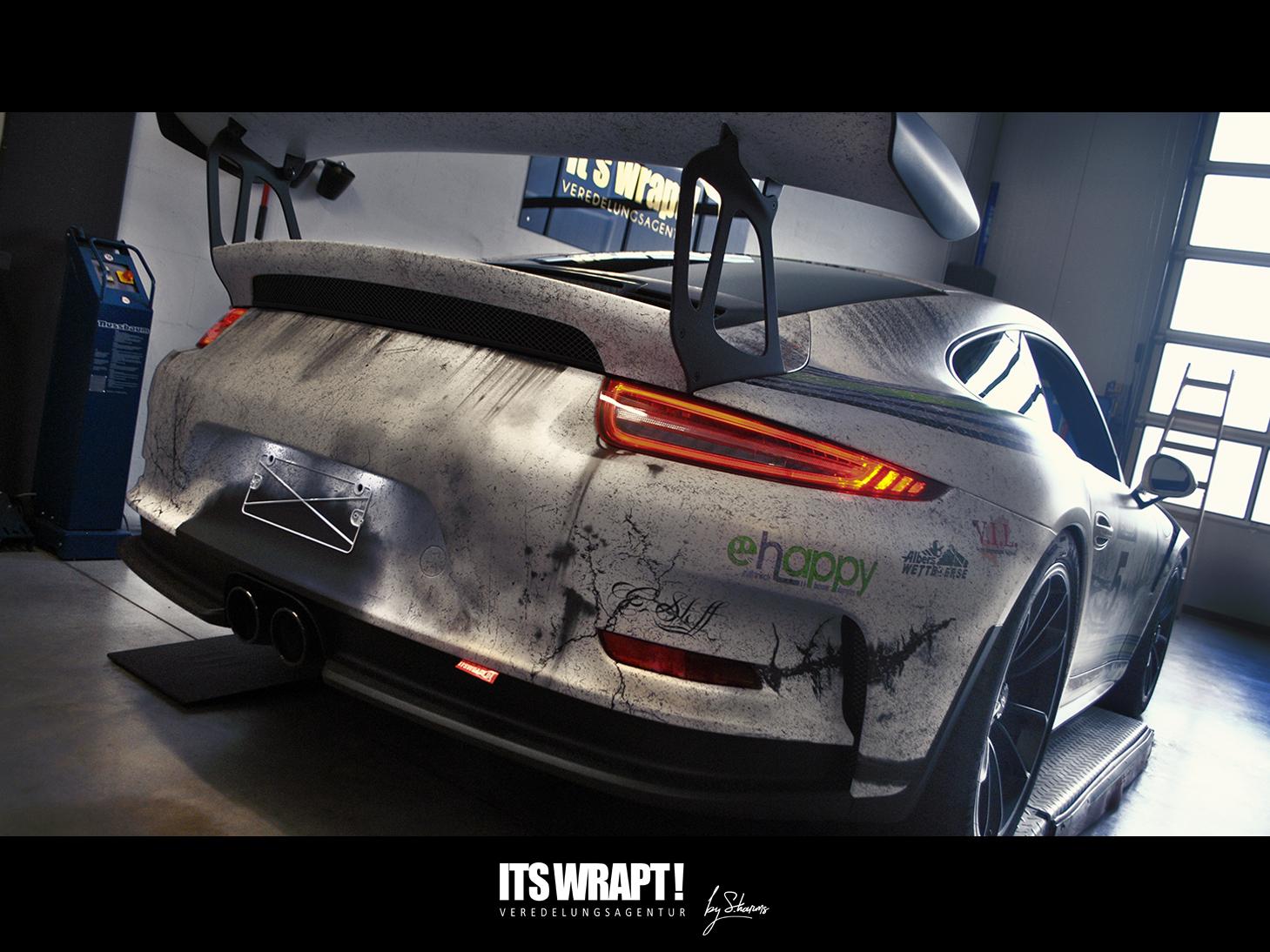 Porsche GT3 RS Verwitterte Designfolierung