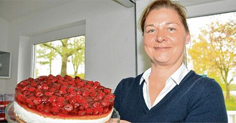 Selbst gebackene Torten gehören am Luisenbad ebenfalls zum Angebot bei Nanke Gröhn.