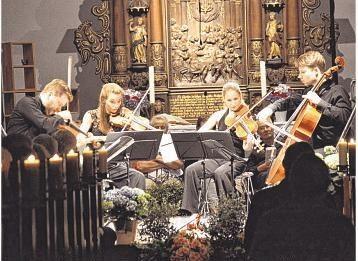 Beeindruckte mit großer Spielleidenschaft: das Armida-Quartett mit (von links): Martin Funda, Johanna Staemmler, Theresa Schwamm und Peter-Philipp Staemmler.
