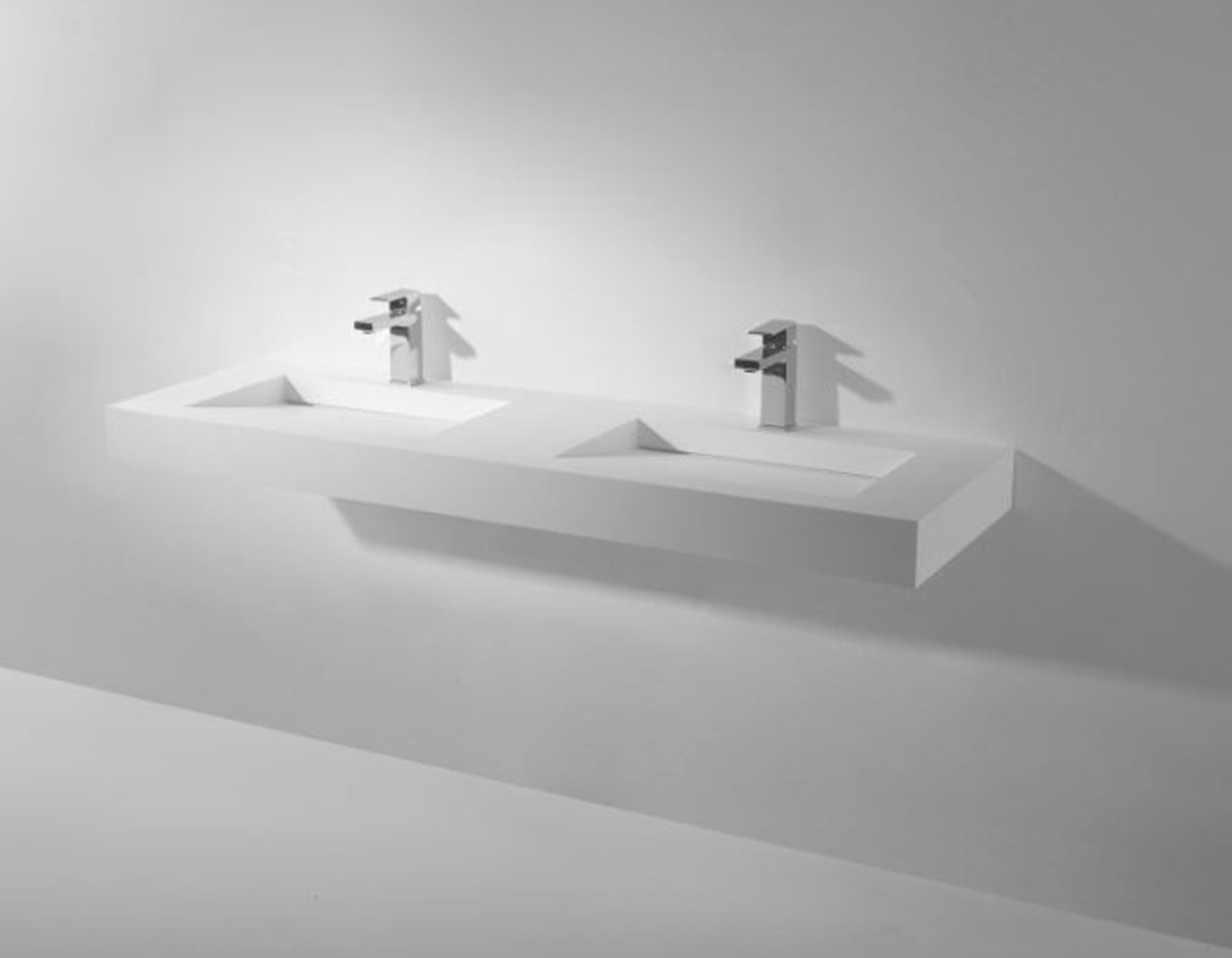 128-280178 SolidSQUARE washbasin 1500x460x100mm