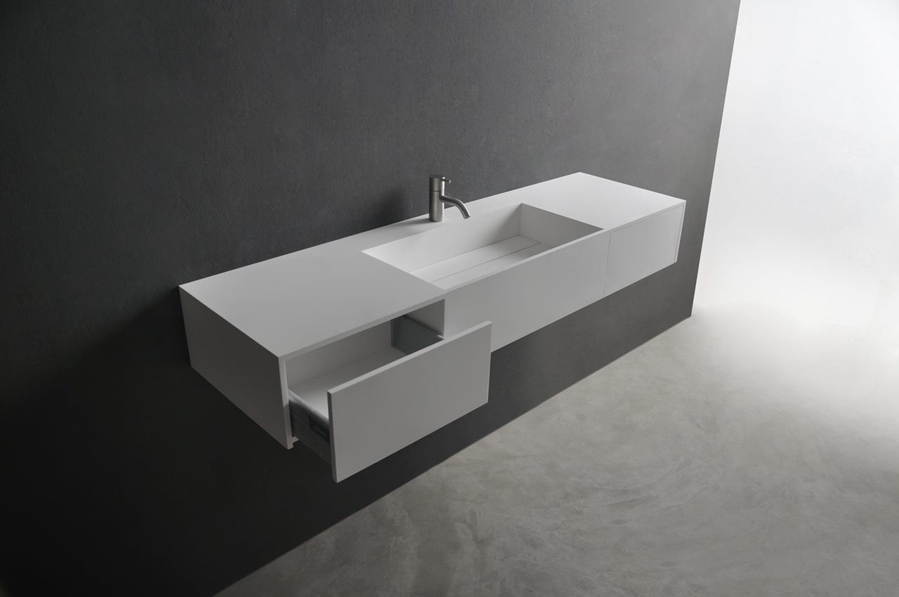 121-280168 SolidPURE washbasin 1400x400x200mm- 2drawers (1)