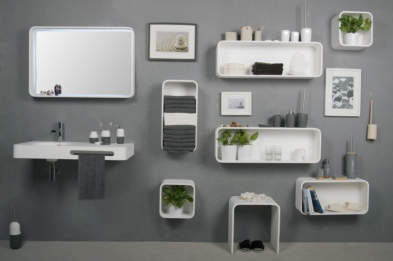 SolidTONDO Serie ( shelves & Mirrors)