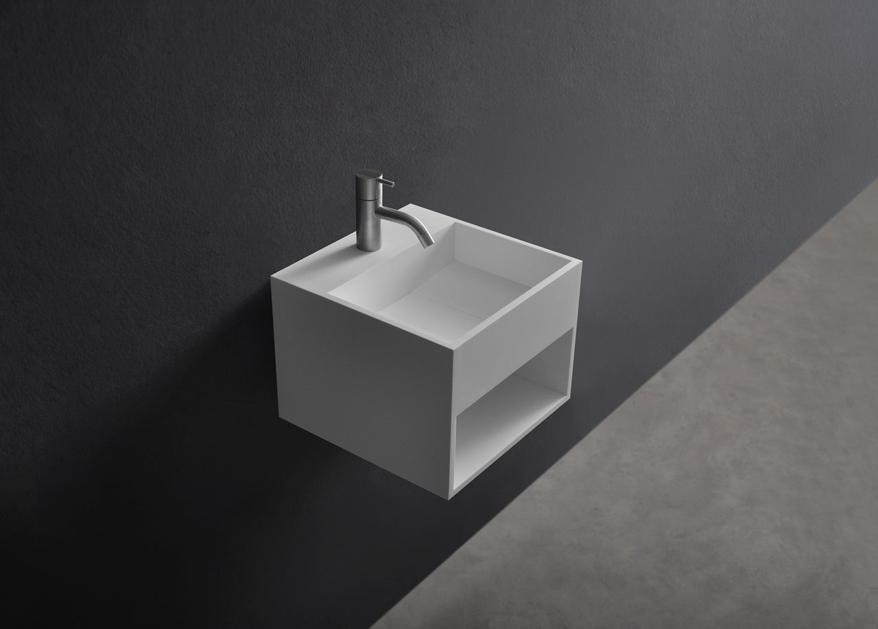 123-280171 SolidCUBE washbasin 300x300x280mm