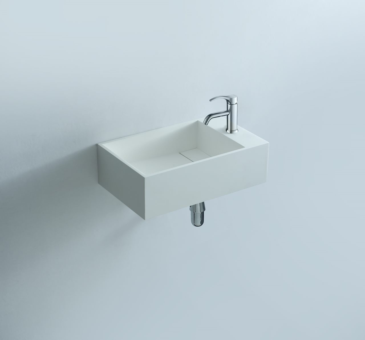 124-280172 SolidCUBE washbasin 400x220x100mm
