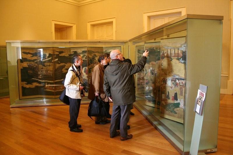 ソアレス・ドス・レイス国立美術館に展示された「南蛮屏風」