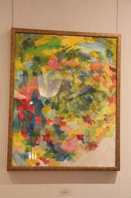 招待作家 福原 金太郎 Kintaro Fukuhara (現代美術家) 作品タイトル: 半島(水彩ドローイング)