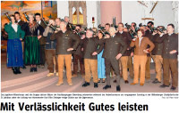 Hubertusfeier 2012 - Mit Verlässlichkeit Gutes leisten