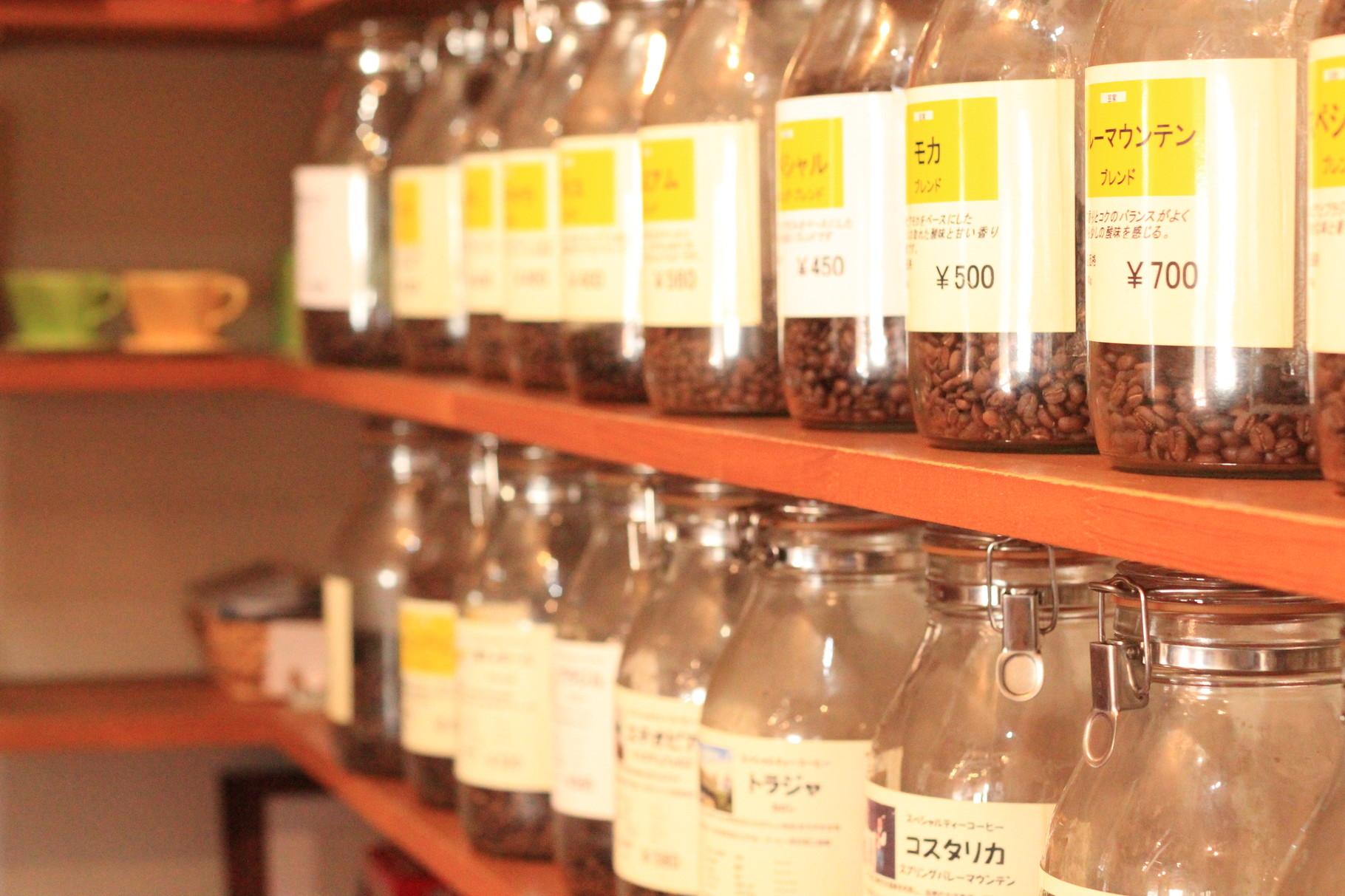 30種類の珈琲豆「物販コーナー」