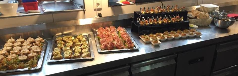 Kalte Bestandteile eine Tapas Buffets