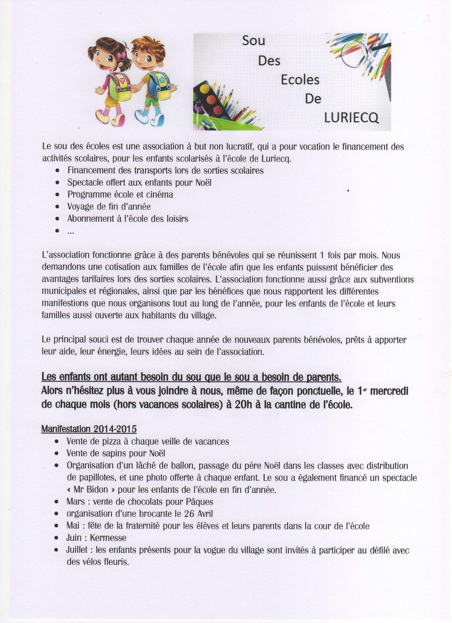 Fabulous Sou des écoles - Site de luriecq ! CZ49