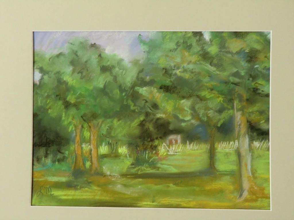 le paysage avec les arbres