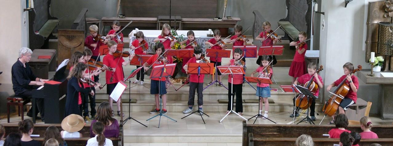 20. Juli 2013 - Streichhölzer im Konzert der Musikschule Puchheim