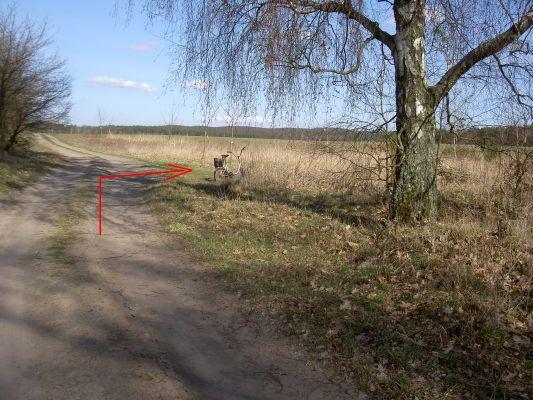 Abzweig ohne Hinweise, obwohl die Route sonst gut beschildert und markiert ist.