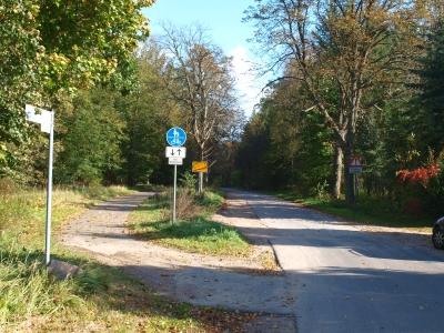 """Streckenabschnitt der """"Tour Brandenburg"""" gleich hinter Reiersdorf. In dieser Richtung geht's nach Friedrichswalde."""