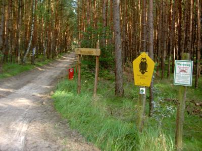 """""""Tafelweg"""" - zweigt ab vom Groß Schönebecker Damm (tief im Wald), führt in Richtung Hubertusstock"""
