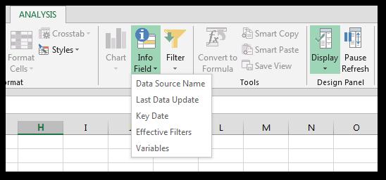 SAP Analysis for Office Info fields