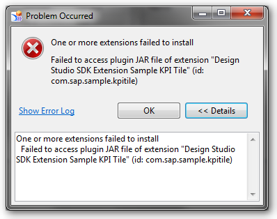 Design Studio Platform Extension Problem