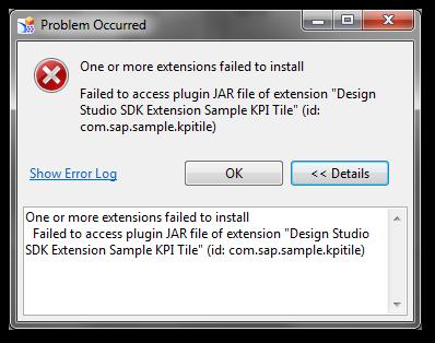 Design Studio Platform Extension Problem