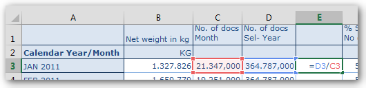 Excel formula in SAP Analysis for Office Crosstab
