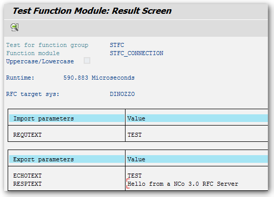 SAP Result Function Module