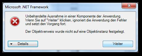 Analysis for Office .Net Framework error