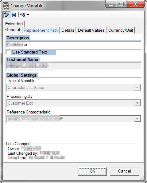 Query Variable Customer Exit