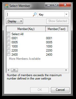 Analysis Office Select Member