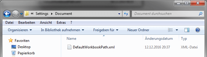 Analysis Office Default Workbook Path