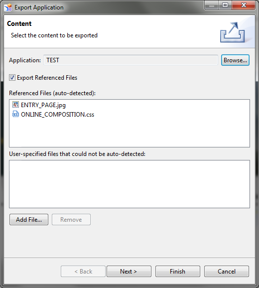 SAP Design Studio Export Application