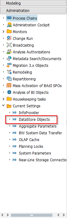 DataStore Objects Settings