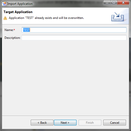 SAP Design Studio Import Application Target Application