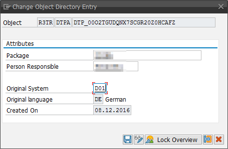 Change Object Directory Entry